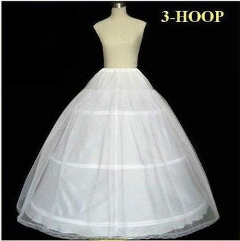 3 Hoops Bone A Line Petticoat Wedding Skirt Slip