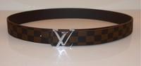 Classic leather belt fashion tide men and women couple models wild casual belt unique design brand belts plaid belts GLB-033