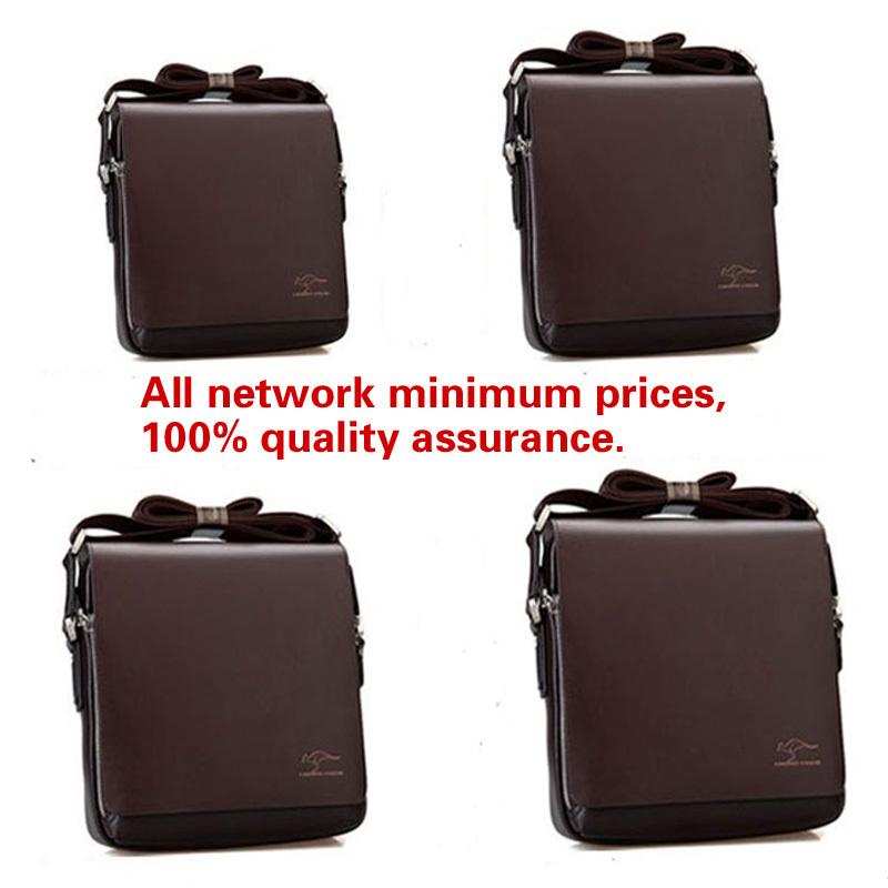 Fashion Kangaroo Mens Leather Crossbody Shoulder Messenger Bag Briefcase 121