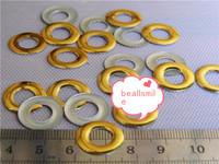 Free shipping 2014 10*4mm Gold  Aluminium circular hole Panel Pressing Hot Fix Nailhead Rhinestuds Drilling DIY Acc 2000pcs/lot