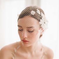Handmade fashion veil pearl veil soft network short veil bridal veil