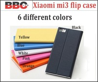 XIAOMI M3 Leather Case XIAOMI MI3 Protective Flip Cover Case Stand Case Gift Screen Protector 6 colors