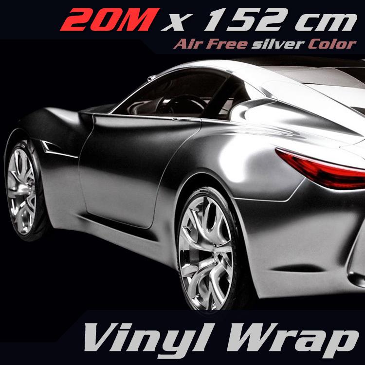 Spiegel Folie Wrap 8 Quot x 60 Quot Auto Auto Voertuig Zilveren Spiegel Chroom Folie Glans Wrap Vinyl