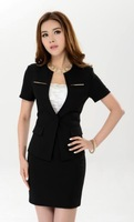new 2014 women's summer suit with a skirt  fashion business suits formal office uniform style blazer women work wear