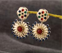 Min Order $15 (Can Mix Item ) Vintage bohemian luxury created crystal diamonds drop earring