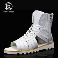 MEN Peas shoes 2014 Summer sports male sandals gladiator sandals male sandals slippers hole shoes high