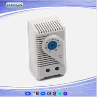 Small compact adjustable thermostat , 0-60 degree temperature controller connection of fan or singal light  for cabinet KTS 011