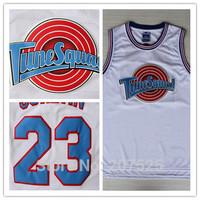 Chicago #23 Michael Jordan Tunesquad Jersey,  New Material Mens MESH White Basketball Jersey