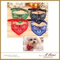 Free Shipping Wholesale Hot Fashion Pet Bow Tie Triangular Bandage Dog Collar Bandage