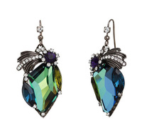 Fashion multi-colored crystal leaves earrings earring female gift quality accessories