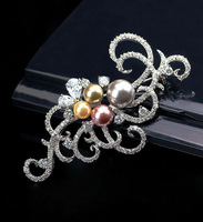 Fashion streamline pearl jewelry brooch accessories quality brooch quality female jewelry