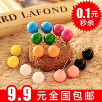 Min $10 Small accessories candy ball stud earring earrings