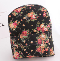 women backpack 2014 canvas bag vintage floral print backpack student school bag casual female travel backpack free shipping