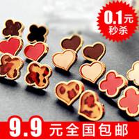 Love clover love resin stud earring heart earrings female accessories