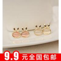 Fashion moonstone rabbit stud earring fashion vintage - eye earrings earring female