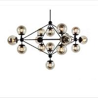 Fashion 15 bulbs led DNA  Modo Magic bean pendant light brief ceiling lamp iron glass ball