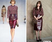 Hot Sale!! 2014 New Fashion Ladies Elegant Hearts Print Blouse High Quality Long Sleeve Casual Slim Shirts Tops Free Shipping