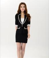 spring 2014 suits for women work wear blazer women office suit  free shipping