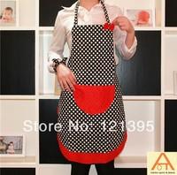 Best selling!Latest design Cotton Apron the fashion Polka Dot apron Kitchen Apron