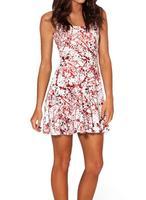 2014 Hot Sale New Fashion Women's Pleated BLOOD SPLATTER Digital Print Galaxy Black Milk Skater Dress Free Shipping
