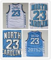 Michael Jordan North Carolina Basketball Jersey, Cheap North Carolina Collage Jersey  #23 White & Blue Basketball Shirt