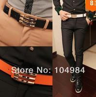 2014 Hot new leisure belt Fashion glossy male men handsome strap belt malein Fashion glossy male men handsome strap belt