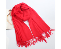Hot selling! red faux oversized scarf solid color,autumn and winter thermal long tassel design cape