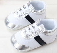 Free shipping - baby boy white cotton brand fabric shoes non slip first walkers baby sport shoes L0106