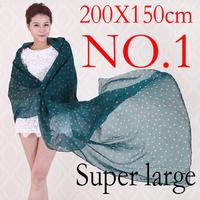 2014 new winter hot sale super large beautiful brand scarf women pashmina 200*150cm free shipping