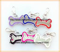 HOT Selling Freeing Shipping Pet Products 47*23MM 500pcs/lot Dog Bone Shaped Pet ID Tags Zinc Alloy Dog tags Hang Pet Tags
