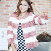 Fur rabbit fur berber fleece fur outerwear short design P
