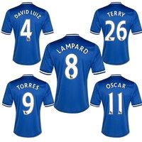 13/14 Top Thai Quality Home Away third Chelsea Soccer Jerseys MATA TORRES LAMPARD LUIZ HAZARD TERRY OSCAR Football Jerseys