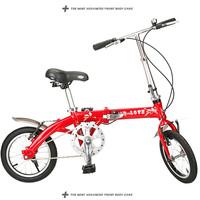 2014 New Full aluminum alloy qiuqiu 14 portable ultra-light folding bicycle  Free Shipping