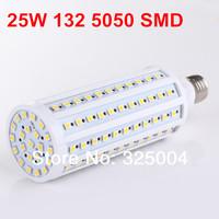 25W E27 132 5050 SMD 2400LM Corn Bulb AC 200V~240V LED Corn Lamp Lighting Free shipping