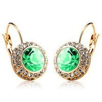Accessories fashion  full rhinestone crystal drop earring - ear buckle multicolor earring