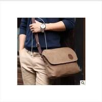 2014 male messenger bag canvas bag messenger bag man bag small bag one shoulder casual bag vintage