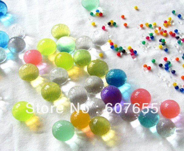 Free Shipping 3g/Retail Pack DIY Magic Crystal Soil/Water Beads/flower mud,colorul clay soil,crystal boll,rainbow color crystal(China (Mainland))