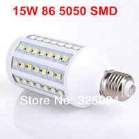 15W E27 86 5050 SMD 1550LM Corn Bulb AC 200V~240V LED Corn Lamp Lighting Free shipping
