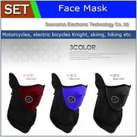100pcs/lot Cheap Outdoor Neoprene Neck Warm Half Face Mask Winter Veil For Sport MTB Bike Bicycle Motorcycle Ski Snowboard