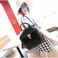 Free shipping  crocodile pattern handbag backpack school bag preppy style women's handbag  fashion backpack