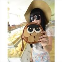 Free shipping Bags 2014 owl bag cartoon mini one shoulder cross-body bag small female bags  tote bag