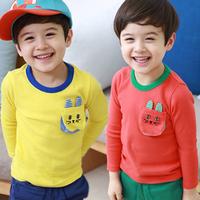 2014 spring cat pocket boys clothing baby child long-sleeve T-shirt tx-2651 basic shirt