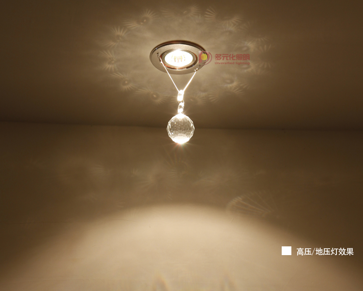 Modern led ceiling light small balcony entranceway single pendant light small crystal lighting background wall(China (Mainland))