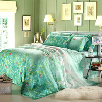 Double faced 60 tencel piece set tencel bed sheet duvet cover bedding
