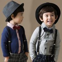 2014 spring bow preppy style boys clothing child long-sleeve shirt tx-2809