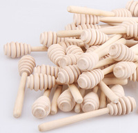 48pcs wood honey stick stirring rod 14cm Length