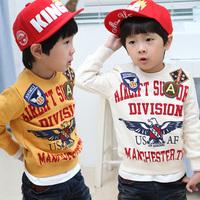 2014 spring eagle boys clothing baby child o-neck casual sweatshirt outerwear wt-2495