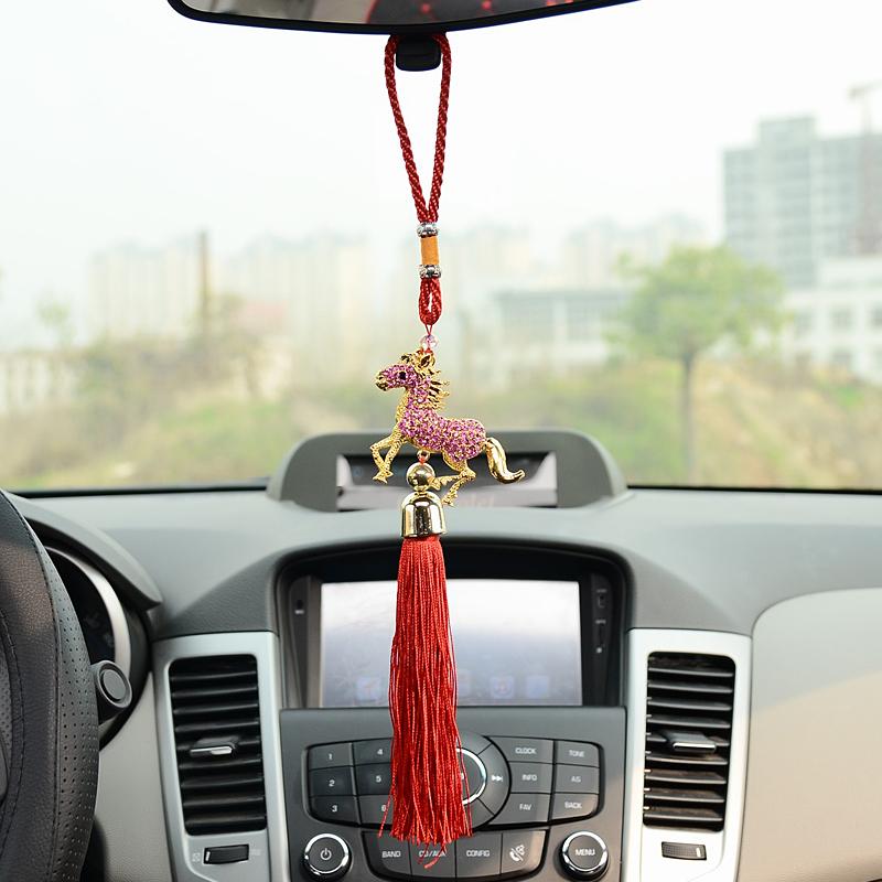 Diamond horse 2014 peace symbol accessories quality car accessories car hangings horse car pendant(China (Mainland))