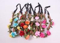 Trial order 5pcs/lot 2014 new headwear Flower Crown Floral Crown  Flower Headband Hair Wreath girls hair accessories