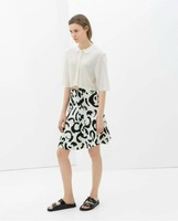 2014 New Summer Fashion Women's Black Ink Brush Painting Skirt A-line skirts SML
